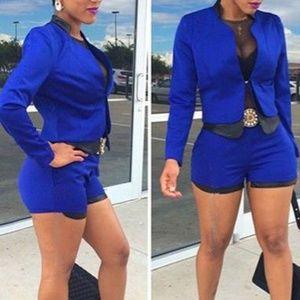 Women's Short and Jacket Set